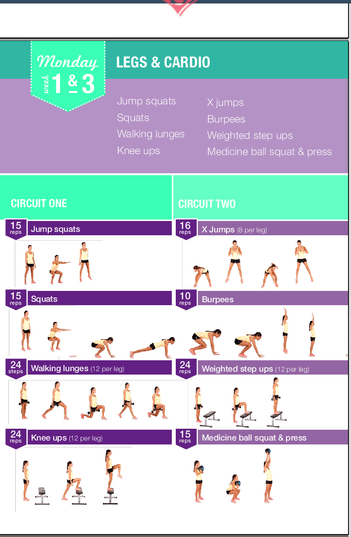 Turbo bikini-body-guide-week1-2.png (713×1091) | gym | Pinterest  CH78
