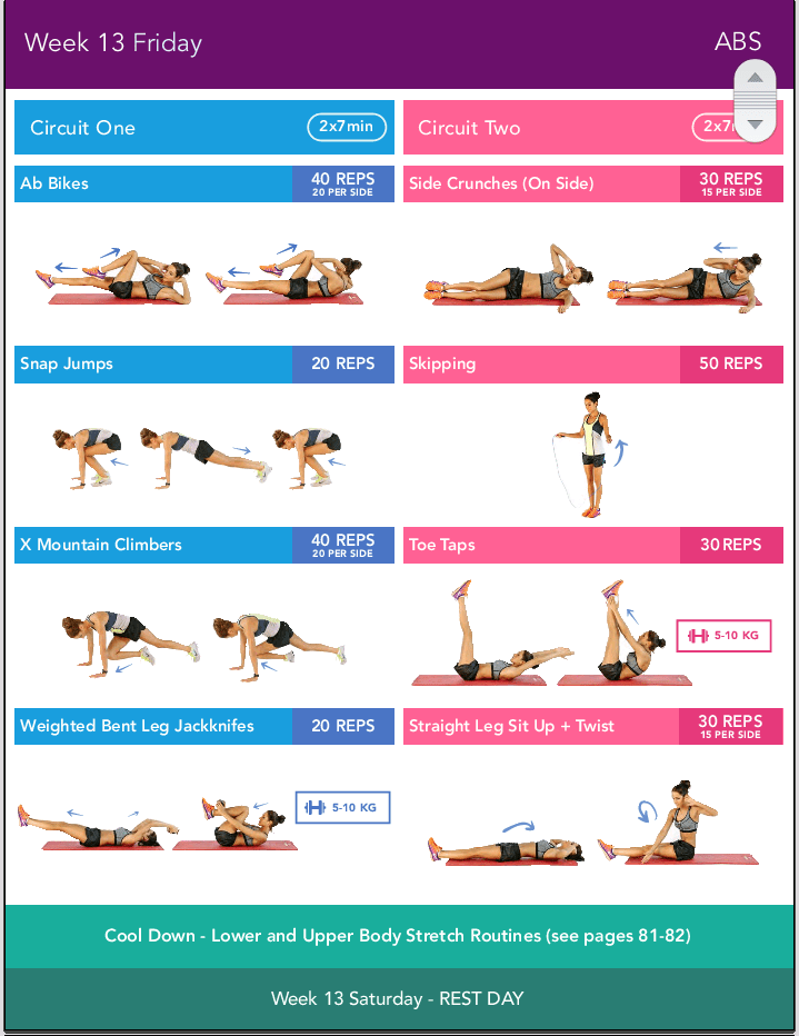 BIKINI BODY GUIDE 2.0 KAYLA ITSINES WEEK 13