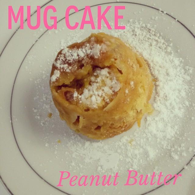 mug cake-peanut butter