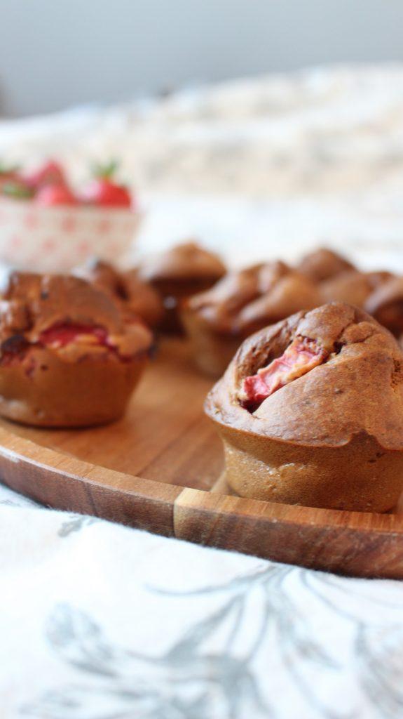 recette muffins healthy fraise