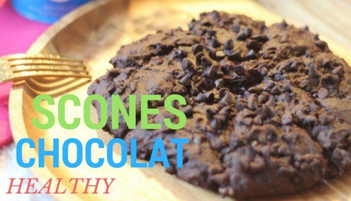 Recette facile avec des scones au chocolat