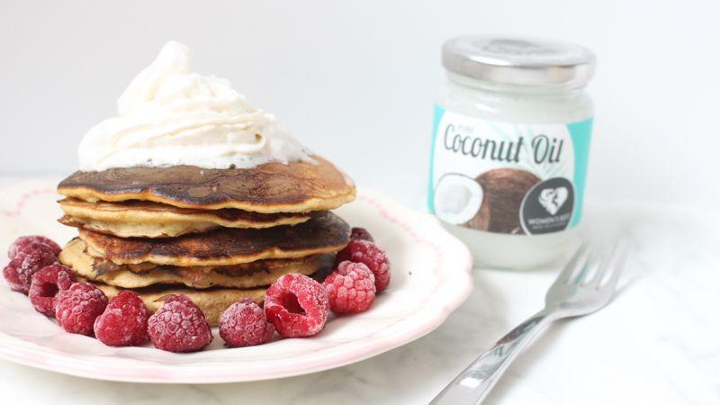 Mes pancakes healthy, version légère. Sans gluten, sans lactose vous allez vous régaler.