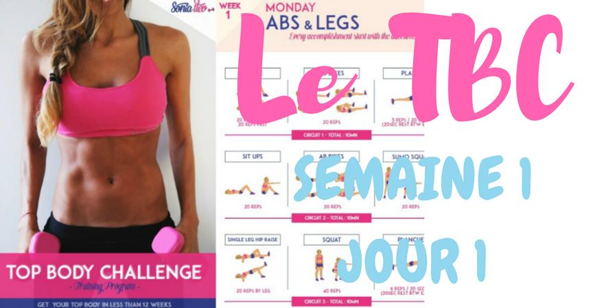 Le programme fitness de sonia tlev, le top body challenge