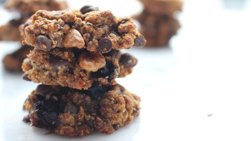 Cookies aux blueberries healthy