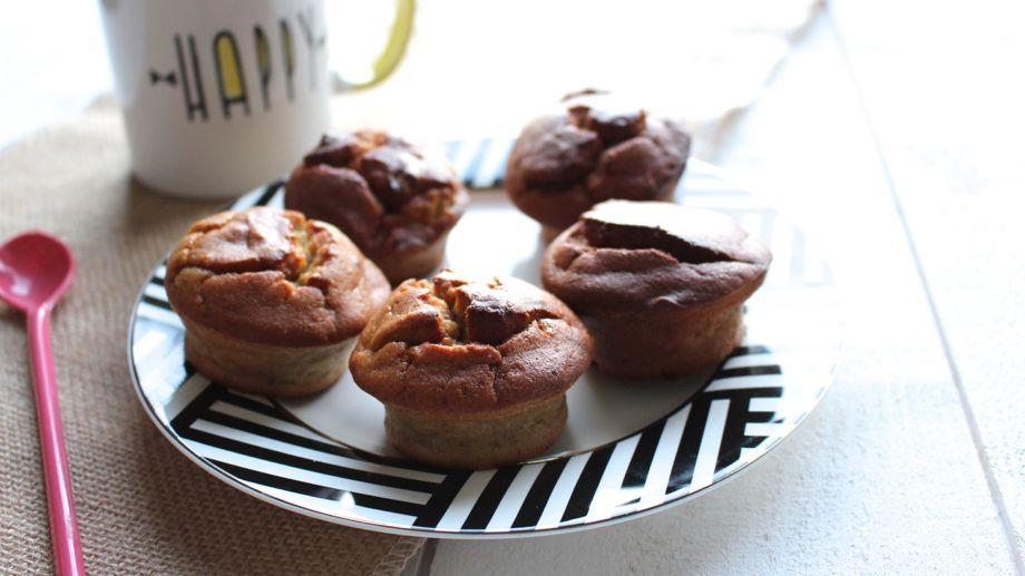 Muffins courgette et banane sans gluten