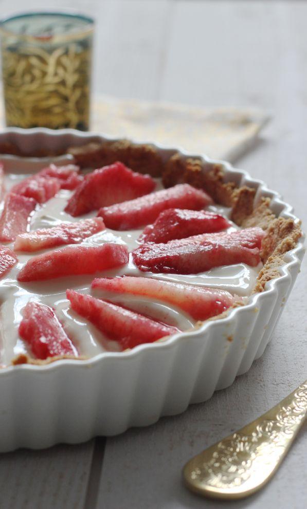 Vous recherchez une tarte healthy ? J'ai la recette qu'il vous faut, avec des pêches et du philadelphia.