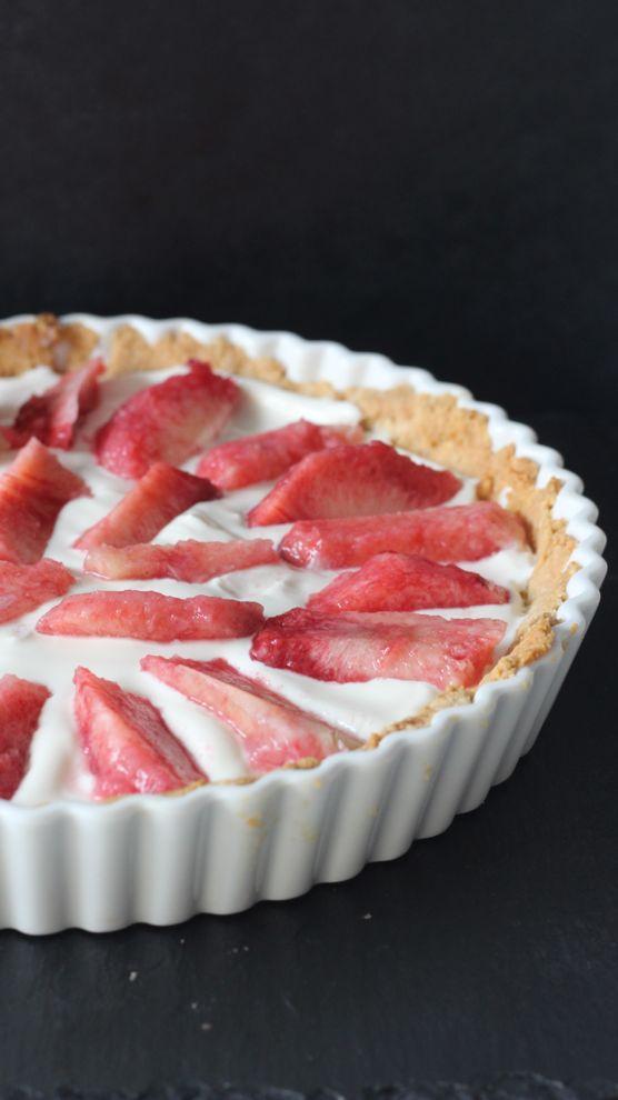 Vous recherchez une tarte pêche healthy ? J'ai la recette qu'il vous faut, avec des pêches et du philadelphia.
