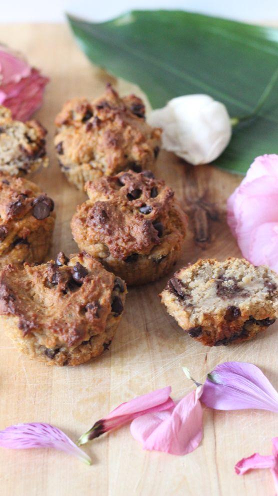 Délicieuse recette de muffins à la whey et aux pépites de chocolat.