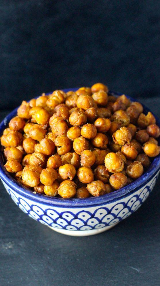 Des pois chiches aux épices pour un apéritif sain et sans gluten.
