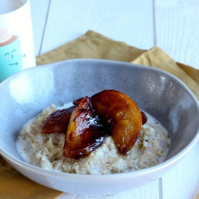 porridge pommes caramélisées