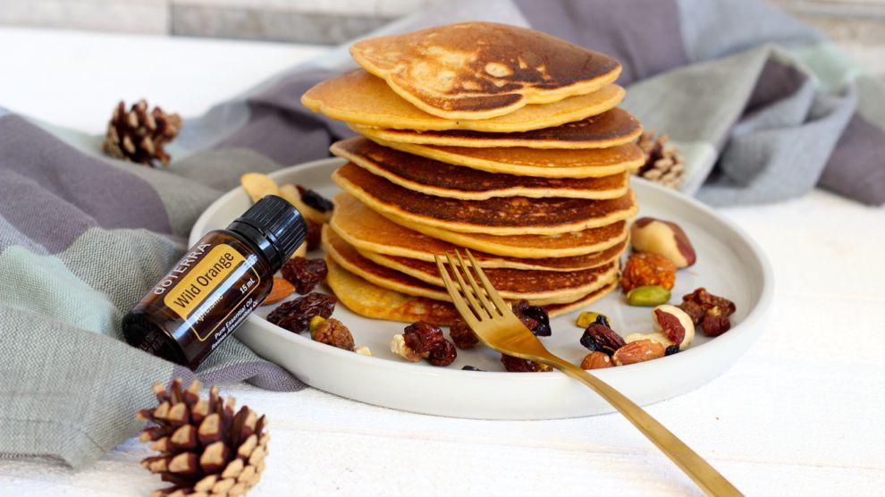 Pancakes patate douce et wild orange de Doterra