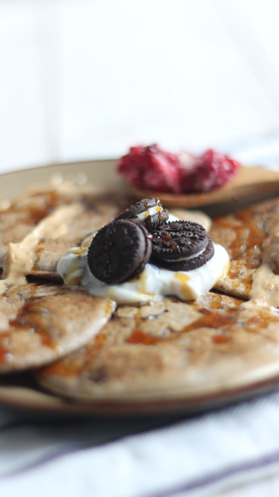 pancakes oreo, une recette healthy délicieuse