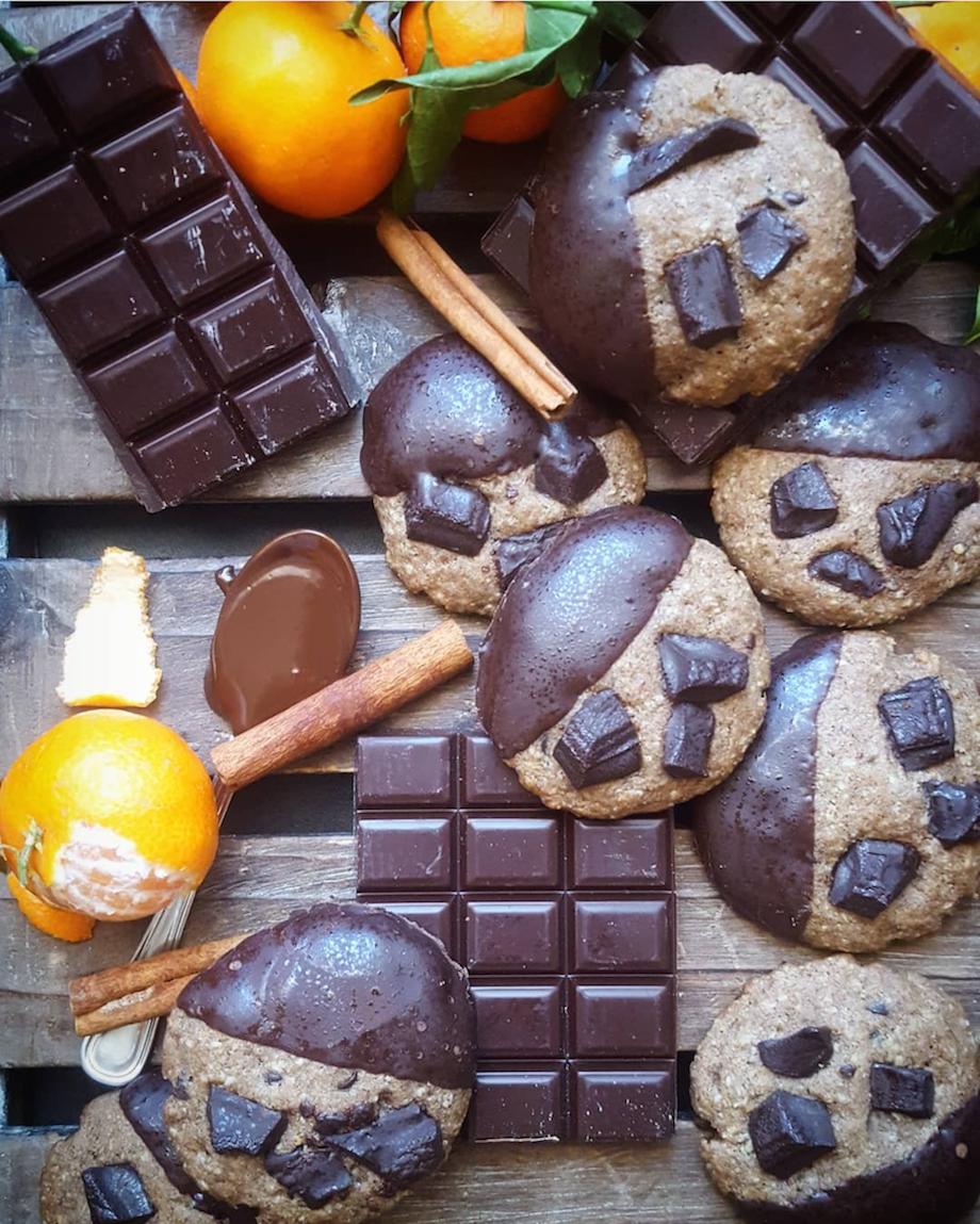 Cookies banane chocolat sans gluten